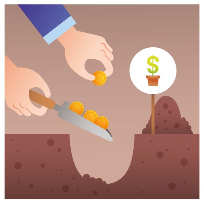 Penge i jorden